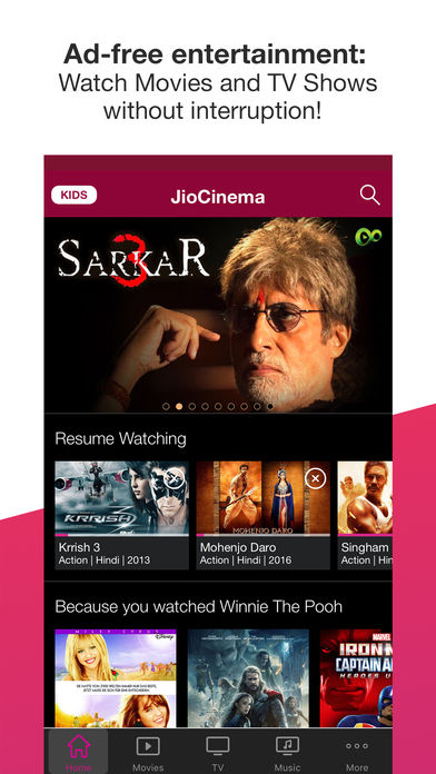 Download JioCinema App on your Windows XP/7/8/10 and MAC PC