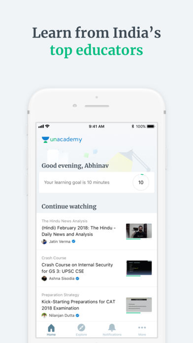 Download Unacademy Learning App App on your Windows XP/7/8/10 and MAC PC