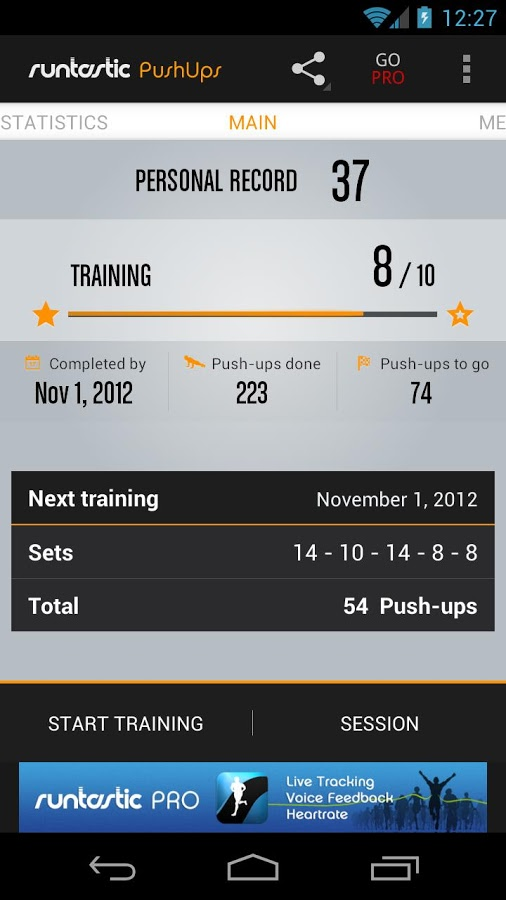 Download Runtastic Push-ups Workout For PC/Runtastic Push-ups Workout On PC